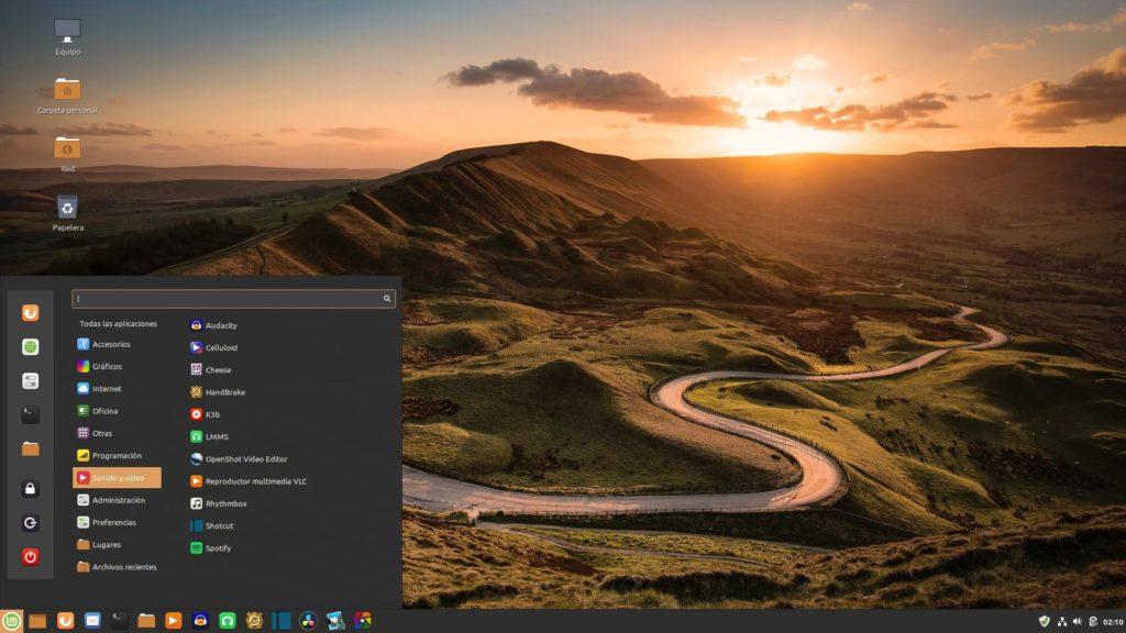 Escritorio Linux Mint 19.3