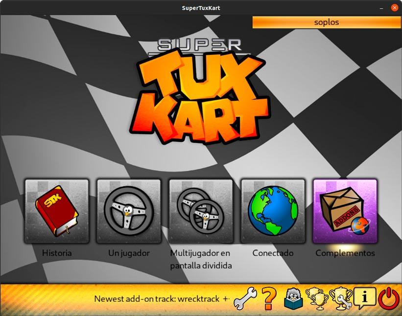 Portada de Súper Tux Kart