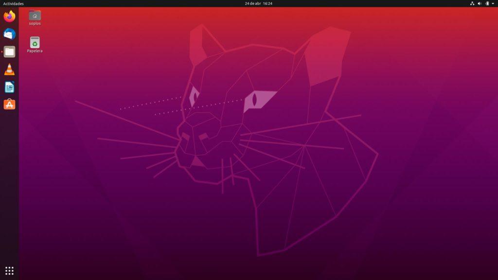 Escritorio de Ubuntu 20.04 Focal Fossa