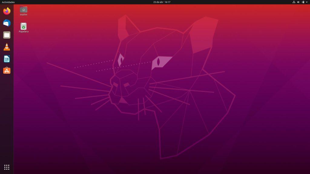 Escritorio de Ubuntu 20.04