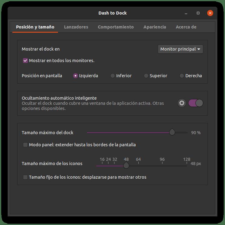 Dash to dock en Ubuntu