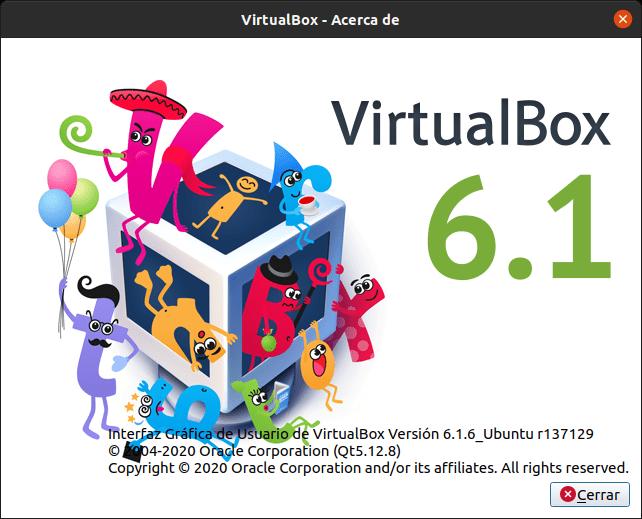 Versión de VirtualBox