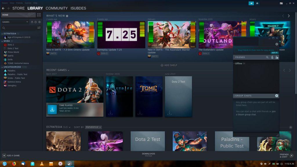 Juegos en la plataforma de Steam