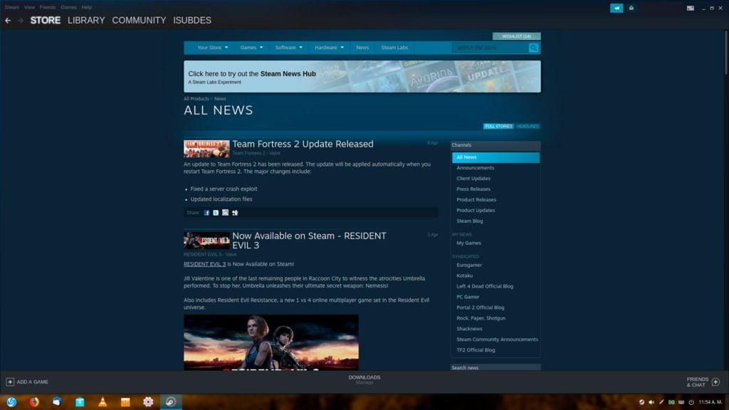 Noticias en Steam