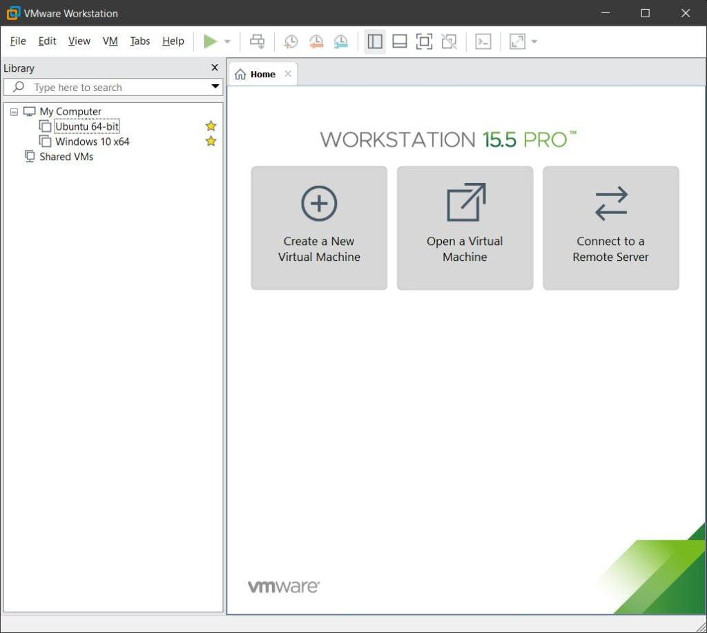 Interfaz de VMware
