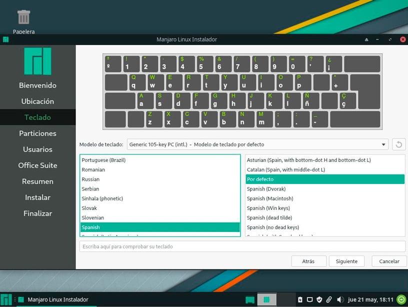 Distribución de teclado