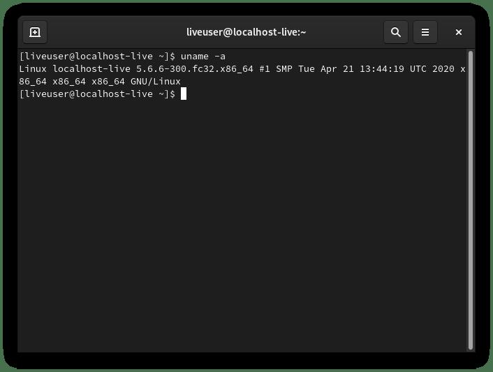 Versión de kernel