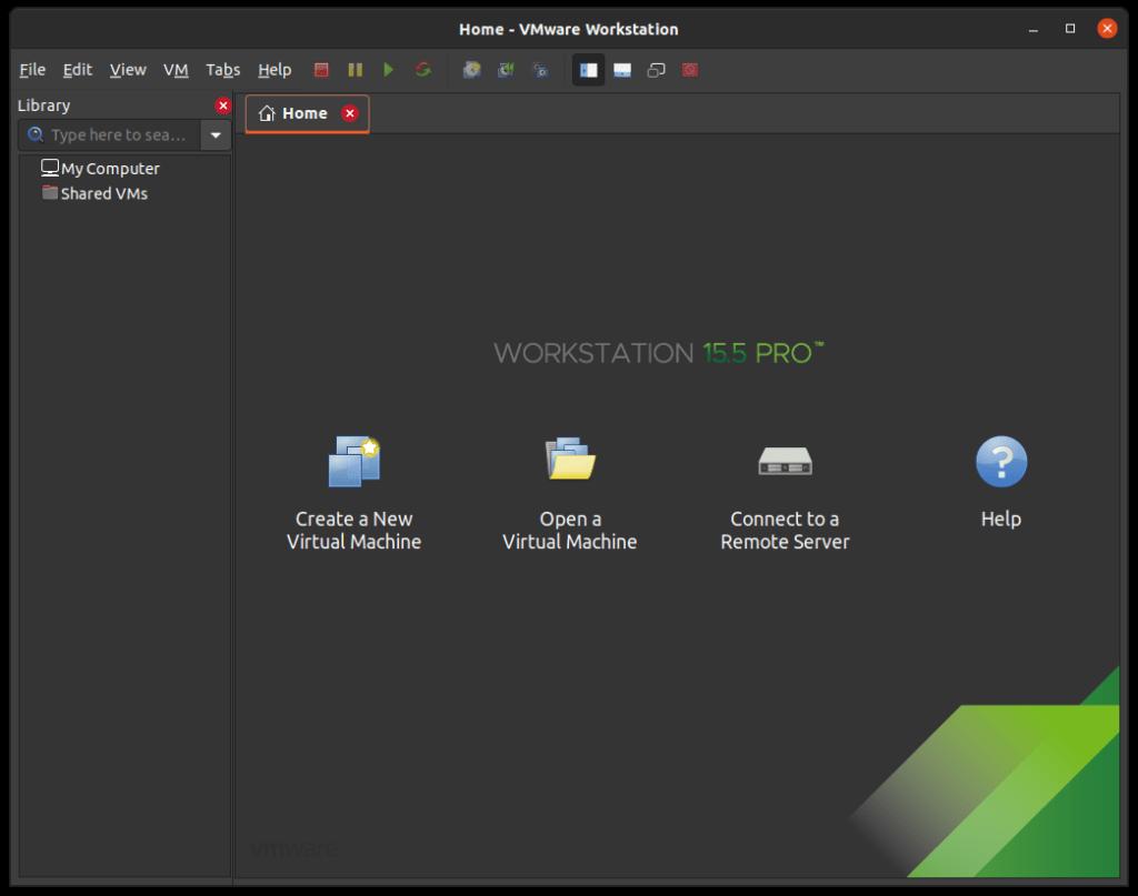 Interfaz de VMware Workstation