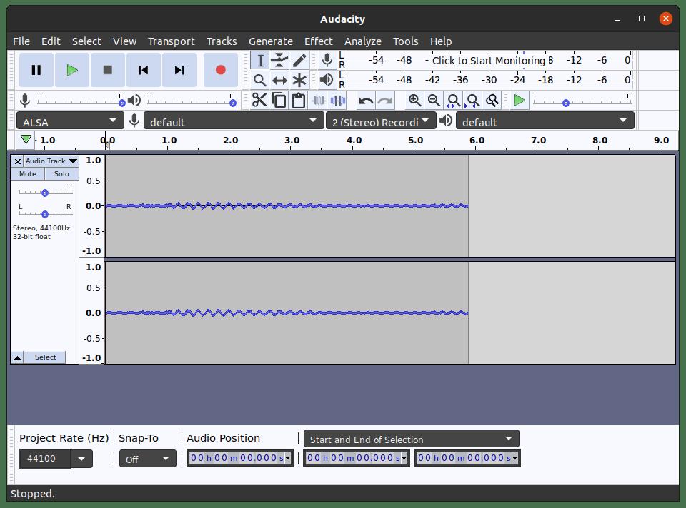 Grabando audio con audacity