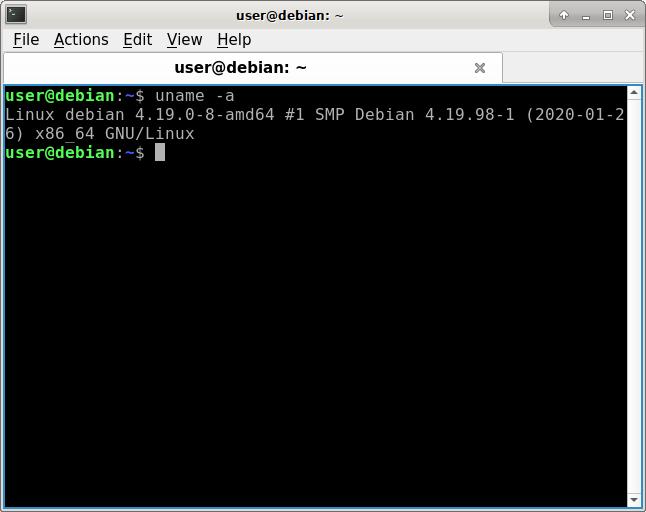 Versión de kernel de Rescatux