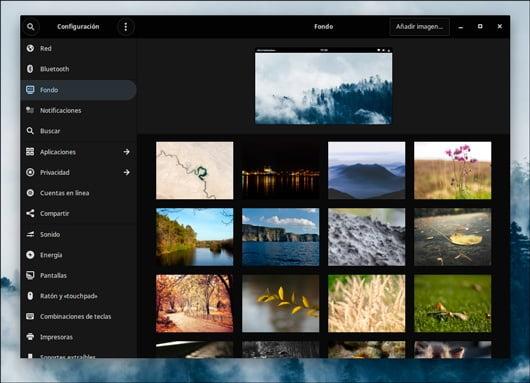 Selector de fondos de pantalla de Solus 4.1