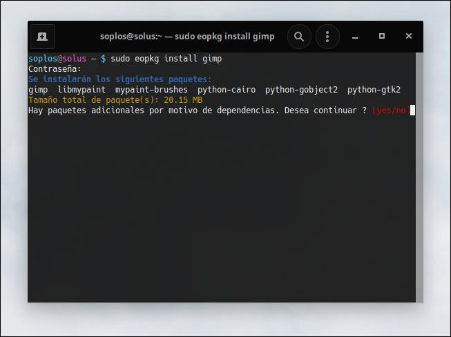 eopkg para instalar programas
