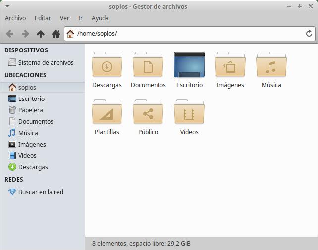 Thunar en Xubuntu