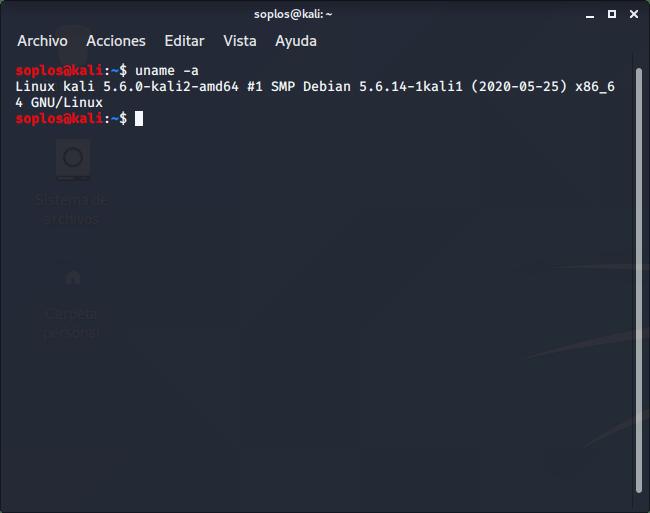 Kernel 5.6 en Kali Linux