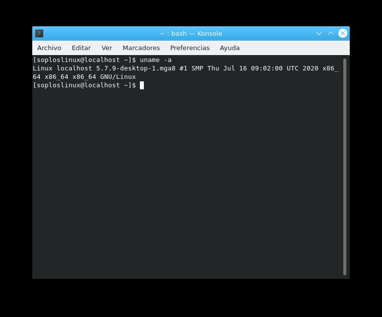 Versión de kernel de Mageia 8 beta